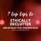Top tips to declutter christmas